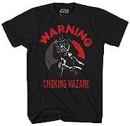 Star Wars Darth Vader Choking Hazard Empire Funny Humor Pun Mens Adult Graphic Tee T-shirt Apparel