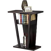 go2buy Espresso 2-Tier Hall Console Accent Table for Entryway Hallway Living Room