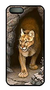 Art Wary Appearance-cougar Back Case For Sam Sung Galaxy S5 Mini Cover (526 art) _618031