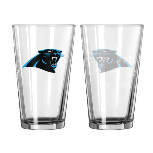 NFL Carolina Panthers Satin Etch Pint, 16-ounce, - Panther Glasses