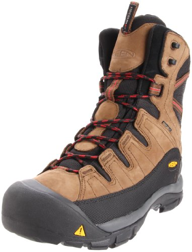 KEEN Men's Summit County Waterproof Winter Boot,Dark Earth/Bossa Nova,9.5 M US
