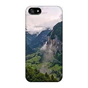 For Iphone 5/5s Tpu Phone Case Cover(between High Mountains Village)