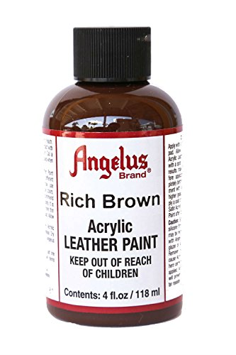 Rich Brown Leather - Angelus Acrylic Leather Paint-4 oz.- Rich Brown