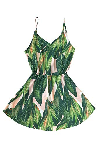 - CUPSHE Women's Tropical Dream Banana Leaf Print Dress, S Green