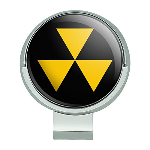 GRAPHICS & MORE Fallout Shelter Civil Defense Symbol Radioactive Radiation Safe Zone Golf Hat Clip with Magnetic Ball Marker