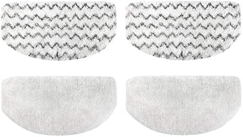 Models 19402 19404 19408 1940A 1940Q 1940T 1940W JOKOVIAN 4 Pack Washable Steam Mop Replacement Pads Compatible for Bissell Powerfresh Steam Mop Pads 1940 1440 1544 1806 2075 Series