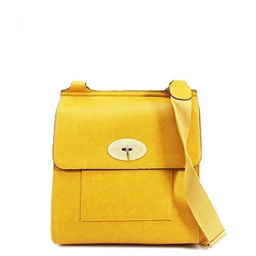 Cross Women Bag Body Messenger Handbag Shoulder Small Yellow Ladies Tote Satchel Tqnp6w4T