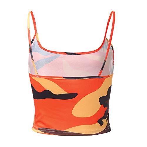 Fainosmny Womens Vest Slim Tank Tops Sexy Sling Crop Tops Camouflage Camisole Sleeveless Bra Vest Basic Blouse T-Shirt by Fainosmny (Image #5)