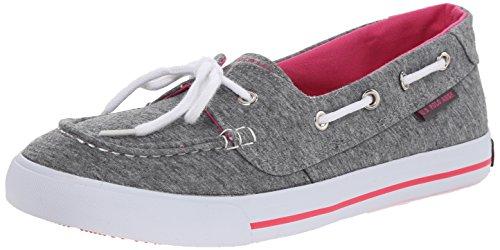 U.S. Polo Assn.(Women's) Women's Stacy Boat Shoe, Grey Jersey/Hot Pink, 7.5 M US