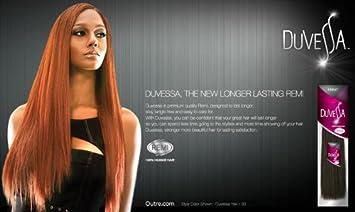 Amazoncom Outre Duvessa Remi Human Hair Weave Yaki 10s Inch