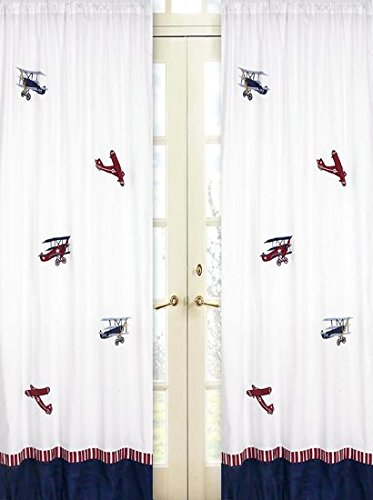 Sweet Jojo Designs 2-Piece Vintage Aviator Window Treatment Panels ()