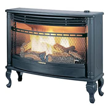 Amazon.com: Charmglow Vent Free Natural Glass Stove Fireplace ...