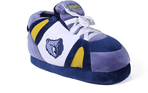 Happy Feet and Comfy Feet Mens and Womens OFFICIALLY LICENSED NBA Sneaker Slippers Memphis Grizzlies