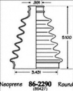 Empi 86-2290D CV Boot Kit