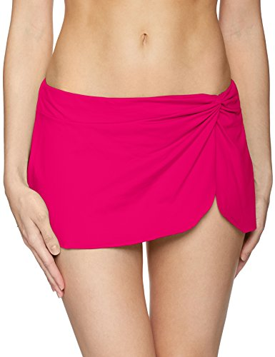 Anne Cole Women's Sarong Skirt with Built in Swim Bottom, Berry, X-Small