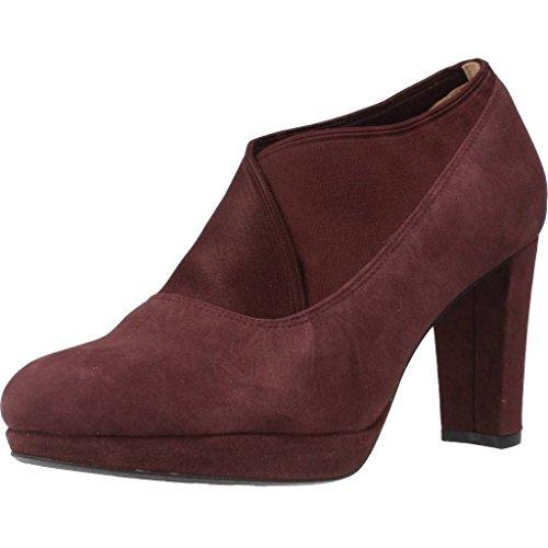 CLARKS Clarks Womens Shoe Kendra Mix Aubergine Suede