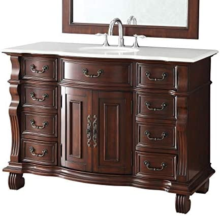50″ Finest Workmanship and Details Large Single Basin Hopkinton Bathroom Sink Vanity Model GD-4437W-50