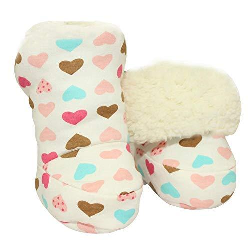win-full Christmas Soft Sole Warm Winter Socks Anti-Slip Prewalker Snow Boots for 0-1 Years Infant Toddler Baby