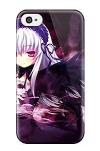 Hot Selling Design Premium JTvohvn15121SMXFD Tpu Case Cover Iphone 4/4s Protection Case(rozen Maiden)