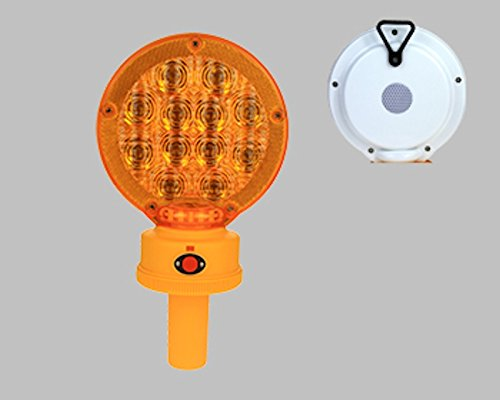 BL12LHS AMBER Type B LED Barricade Light w/ Photocell 3VDC 1200 Hours 2xD Batteries 7