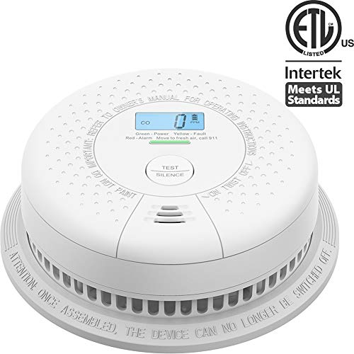 X-Sense Carbon Monoxide Alarm Detector with Display, Compliant with UL 2034 Standard, 10-Year Sealed Battery Operated, CO Alarm Detector with Silence Button, Easy Installation, Auto-Check, CD01