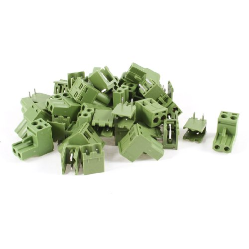 uxcell 20 Pcs AC 300V 10A 5.08mm Pitch 2 Pin Screw Pluggable Terminal Block