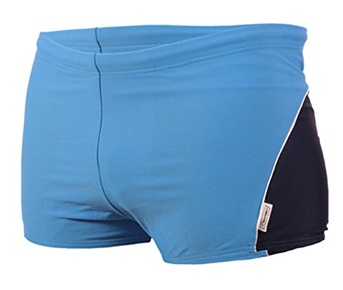 STANSK0017 STANTEKS M navy-blau Herrenbadehose Boxer zweifarbig Badeshorts Herren Schwimmhose Classic Schwimmbekleidung (navy-blau, M)