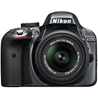 Nikon D3300 24.2 MP CMOS Digital SLR with AF-S DX NIKKOR 18-55mm f/3.5-5.6G VR II Zoom Lens (Grey)