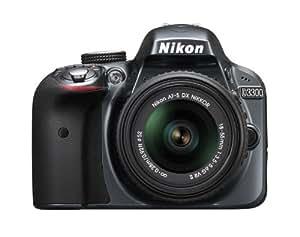 Nikon D3300 24.2 MP CMOS Digital SLR with AF-S DX NIKKOR 18-55mm f/3.5-5.6G VR II Zoom Lens (Grey)