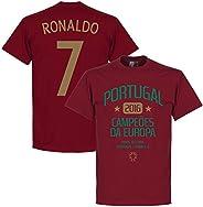 Portugal European Champions 2016 Ronaldo Tee - Deep Red
