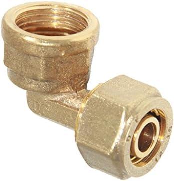 全5タイプ アルミニウム 圧縮複合パイプ メスエルボ 継手真鍮 - タイプ2