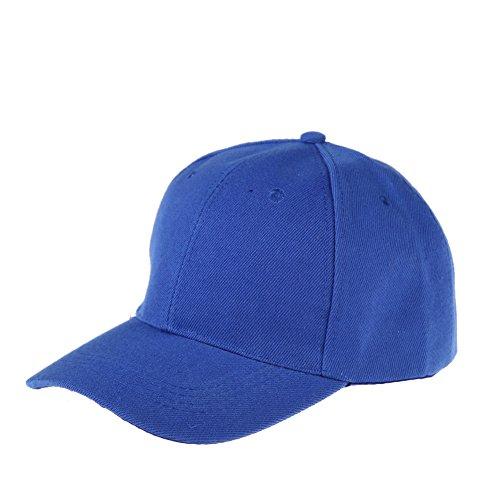 Womens Men Sport Baseball Visor Cap Plain Blank Golf Ball Hat(blue) - 1