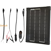 Plug-n-Power 10w SuperBlack Solar Panel Charger with Your Choice Free Adaptor for 12v Off Grid Battery - next day from U.S.