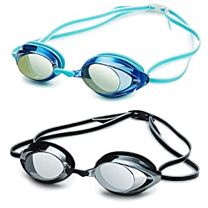 Nabevin Swim Goggles for Men and Women kids –Anti-Fog Racing Goggles – Mirrored Vanquisher 2.0 Swimming Goggles