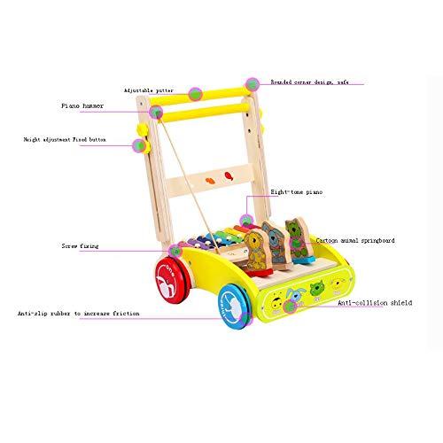 0-2 Años De Edad Bebé Multifuncional Madera Trolley Walker Puzzle ...