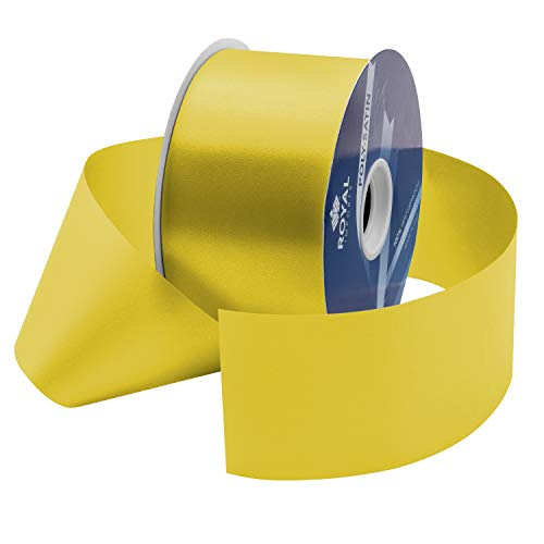 Yellow Poly Satin Waterproof Ribbon 2.75