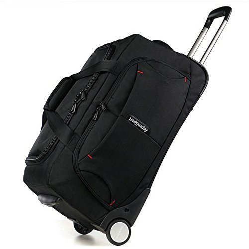 AspenSport Roller Luggage Bag Drop Bottom Wheeled Duffel Bag Travel Bag AS-T10BLK24 by AspenSport (Image #7)