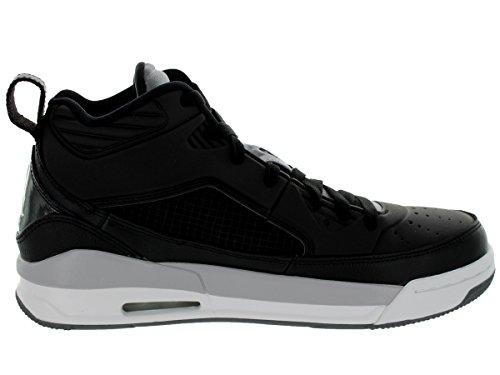 Nike Jordan hombres de Jordania vuelo 9,5baloncesto zapatos Negro/Blanco/Gris (Black/White/Cool Grey/Wlf Grey)