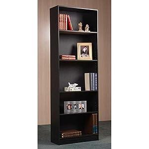 Amazon Com Bookcase 5 Shelf Easy Assembly In Oak Or