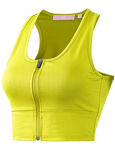 Regna X Women Racerback Sports Bras Fitness Activewear 3X 4X Bra Top Yellow 3XL