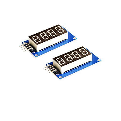 OctagonStar 2PCS 4 Bits Digital Tube LED Display Module with Clock Display TM1637 for Arduino