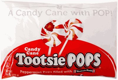 Peppermint Candy Cane Tootsie Pops product image