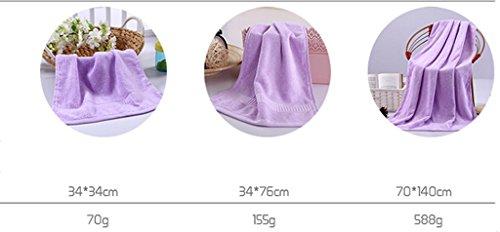 naturale Colore tre di fibra assorbimento 5 acqua insiemi LI di 7 LU asciugamani bambù spessore SHOP awEqYO7