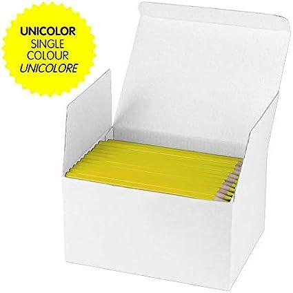 Milan - Caja 144 lápices de color amarillo MAXI hexagonal: Amazon.es: Oficina y papelería