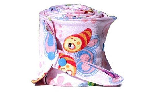 Papier toilette lavable rose et papillons- rouleau 20 feuilles