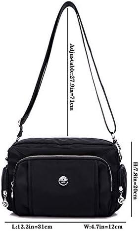 MINTEGRA Crossbody Bag for Women Waterproof Handbag Multi-Pocket Nylon Travel Shoulder Purse