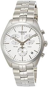 Tissot Men's 'PR 100' Quartz Stainless Steel Casual Watch, Color:Silver-Toned (Model: T1014171103100)