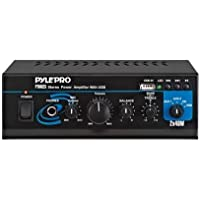 Pyle Ptau23 80w Professional Mini Table Top Amplifier Amp And Mp3 Player