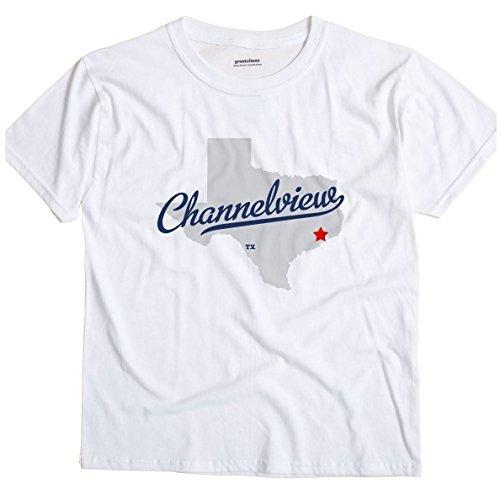 Channelview Texas TX MAP GreatCitees Unisex Souvenir T Shirt