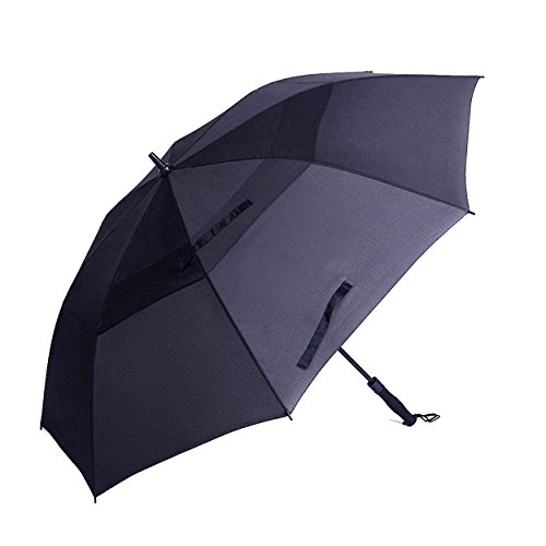 Umbrellas Ping Golf (Fourishing Jubilant Umbrella Golf Windproof Compact Large UV Protection Beach Sport Umbrella Travel Outdoor Long Stick 62 Inch Black)